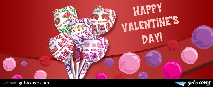 An Awesome Happy Valentines Day Lollipop Facebook Cover
