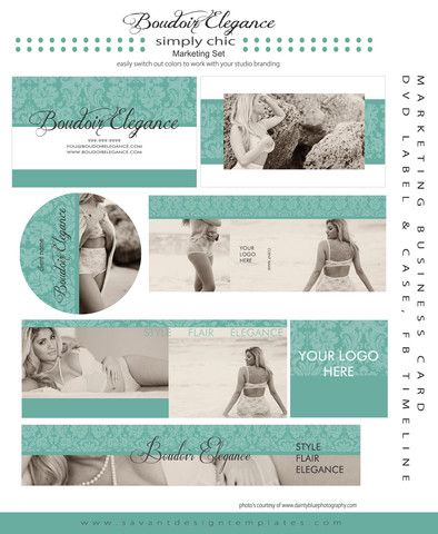Boudoir Elegance Photography Marketing Set by Savant Design Templates | Savant Design Templates