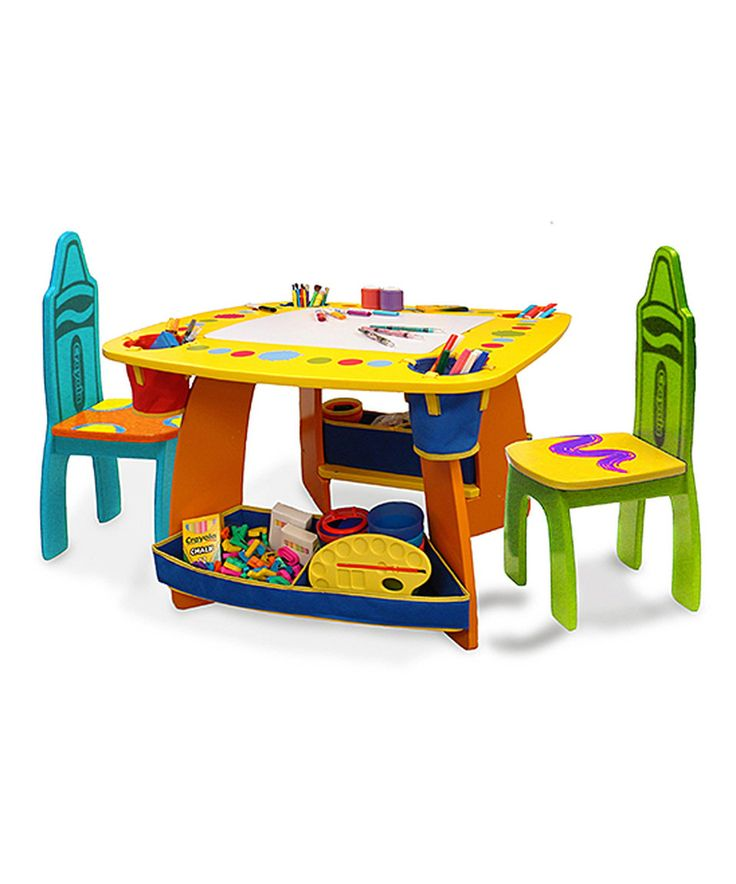 This Wooden Table u0026 Chair Set by Crayola is perfect! #zulilyfinds  sc 1 st  Pinterest & 150 best Preschool/Kid Furniture images on Pinterest | Children ...