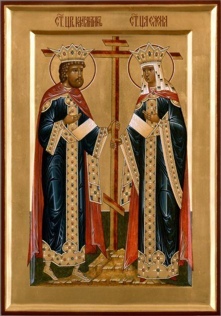 Икона Свв. Равноапостольные царь Константин и Елена