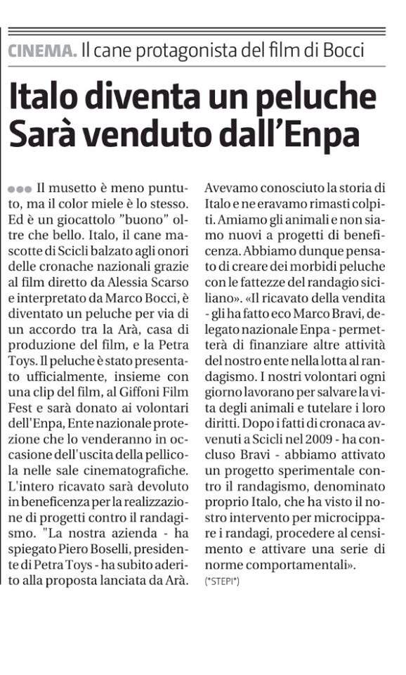 ENPA e Italo a favore degli amici a 4 zampe