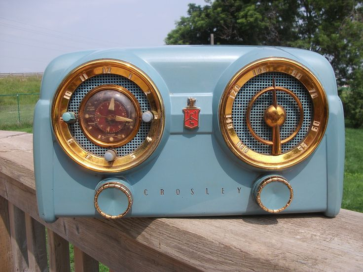 Crosley 1950s Antique Tube Clock Radio Nodel 11 125 Must SEE | eBay