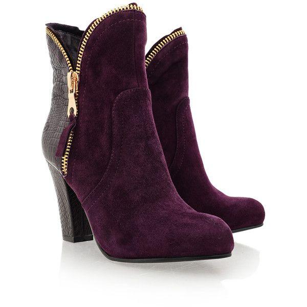 BRONX PRISCILA Purple Ankle Boots