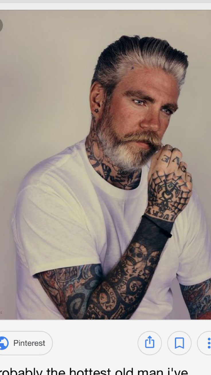 """""""Old men can't be cute with tattoos""""  You might might wanna re-evaluate. Your statement."""