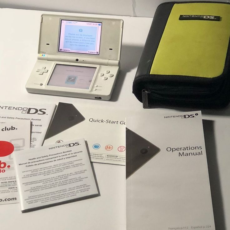 Nintendo DSi Launch Edition White Handheld System With stylus And AC Adapter  #Nintendo