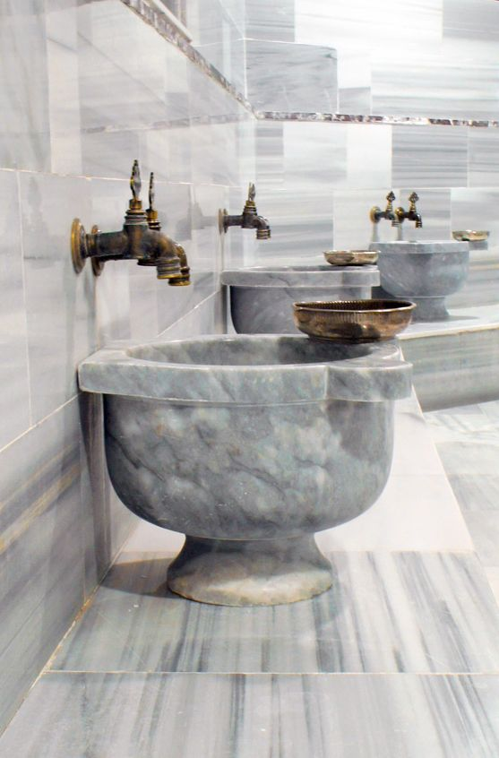 bathroom old. marble basin, pertek, turkish,bath