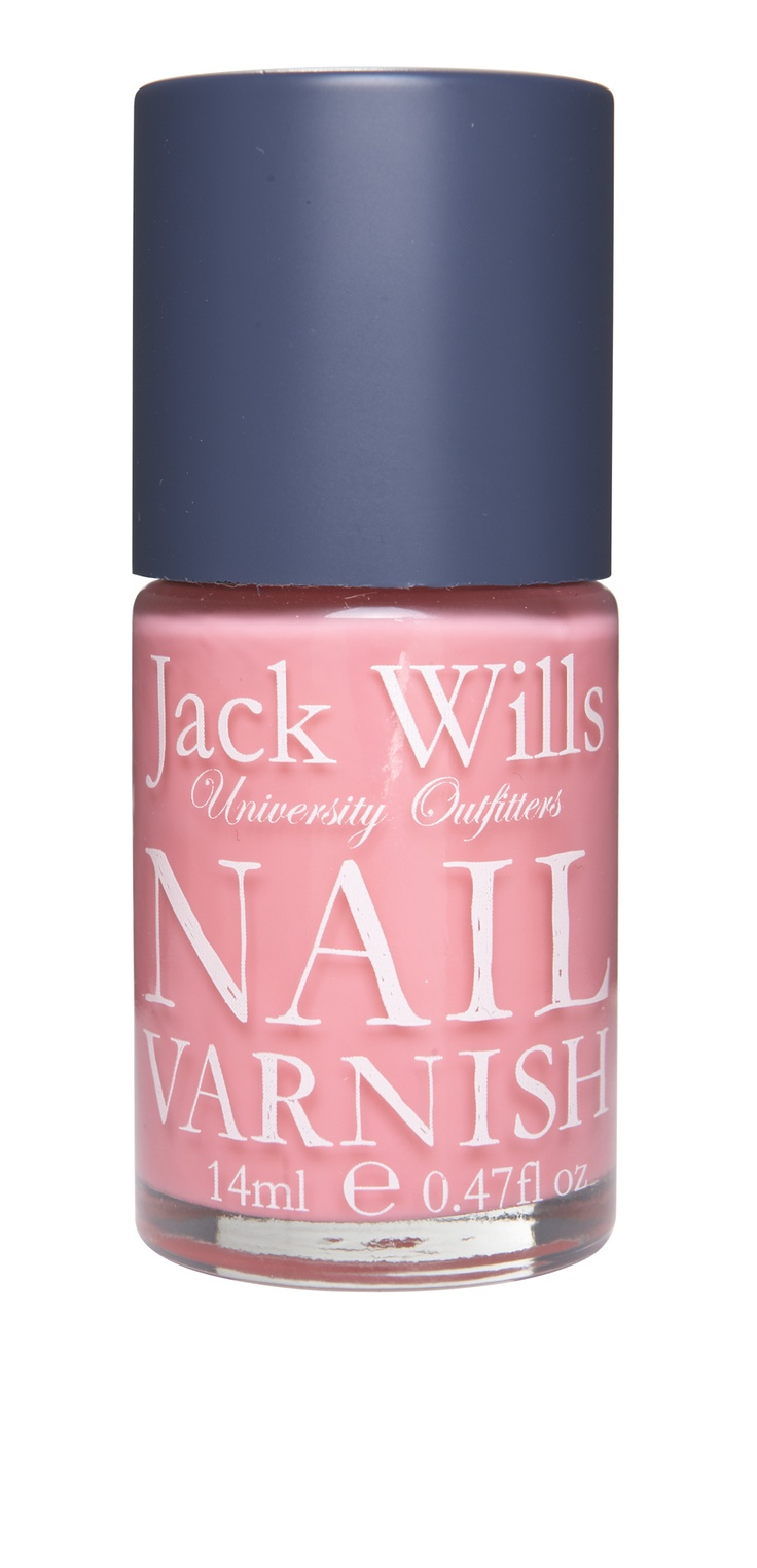 Clayton Nail Varnish in cherry blossom pink. Perk up those fingers and toes #JackWills