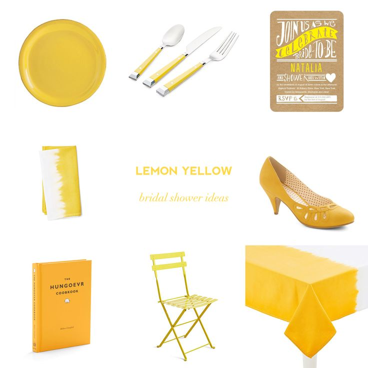 Color Obsession: Lemon Yellow Bridal Shower Ideas — Showerbelle   Host a Happy Bridal Shower