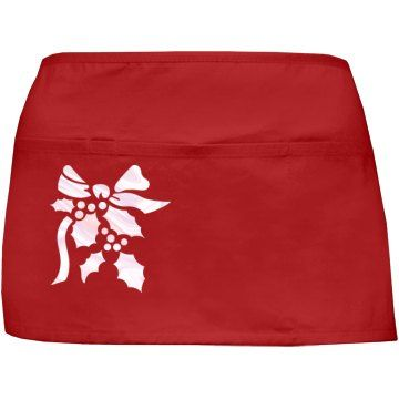 Festive Holly Red Apron