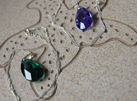 Swarovski   28 mm Tear Drop Pendant with by InspiredDesigns4YOU, $30.00
