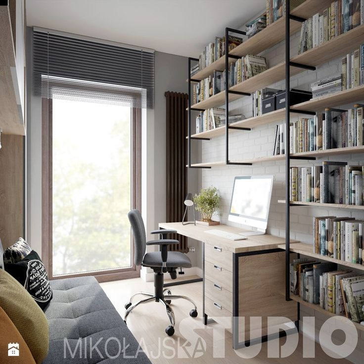 Aranżacje wnętrz - Gabinet: gabinet-loft - MIKOŁAJSKAstudio. Przeglądaj, dodawaj i zapisuj najlepsze zdjęcia, pomysły i inspiracje designerskie. W bazie mamy już prawie milion fotografii!