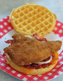 Jo and Sue: Easy Chicken and Waffle Sandwich