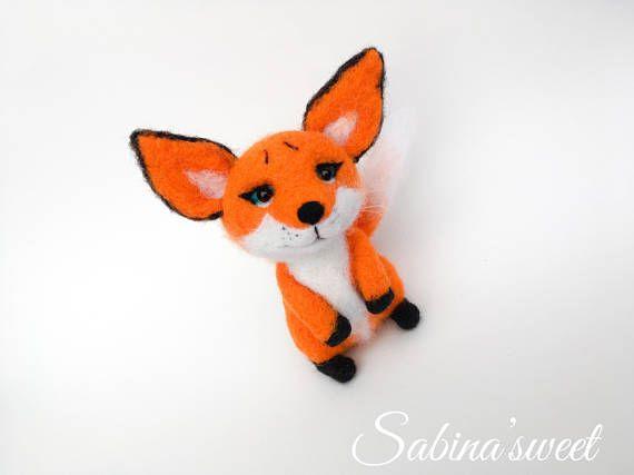 Felted red fox toy Fox art Fox lover gift Fox decoration Fox