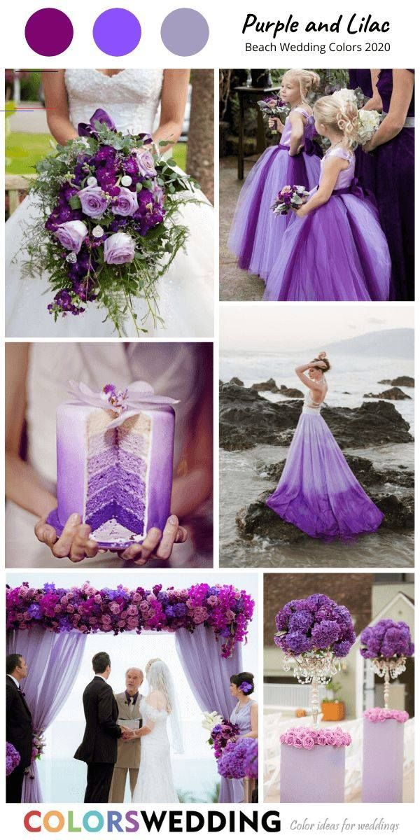 Top 8 Beach Wedding Color Combos For 2020 Purple Lilac Beach