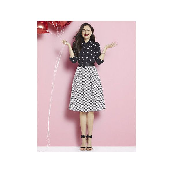 Full Pleated Skirt Circle Print ($20) ❤ liked on Polyvore featuring plus size women's fashion, plus size clothing, plus size skirts, black, pleated circle skirt, full circle skirt, knee length pleated skirt, pocket skirt and circular skirt