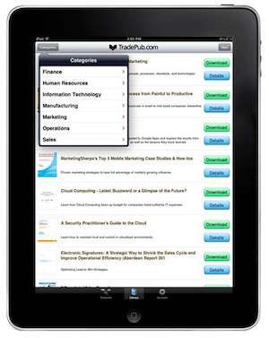 The TradePub for iPad and iPhone apps offer busy professionals a simple yet effective way of staying informed of developments in their industry. It allows you to browse through the extensive library of free resources, download unlimited selections, and save content to the PDF app of your choice.Free ebook: 10 Tips for Making Better PowerPoint Presentations …