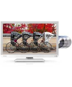 Toshiba 22D1334B 22 inch Full HD LED TV/DVD Combi - White.