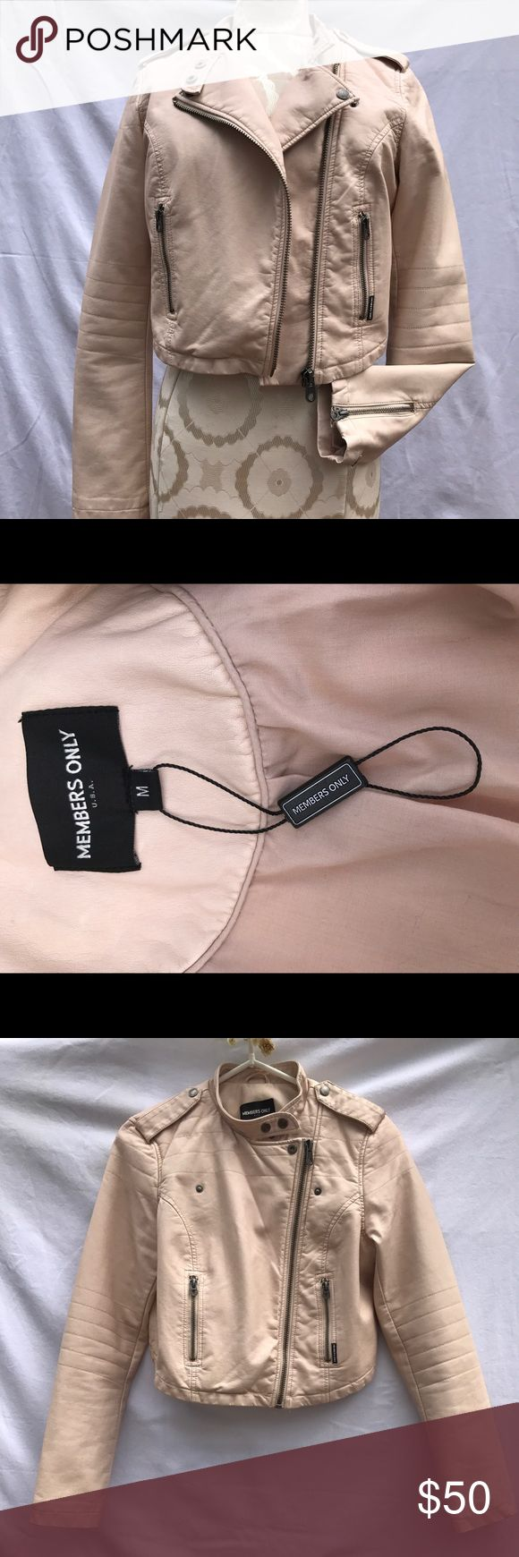 Members Only Urban Outfitters faux leather jacket Light pink Members Only from Urban Outfitters vegan leather jacket size M Members Only by Urban Outfitters Jackets & Coats
