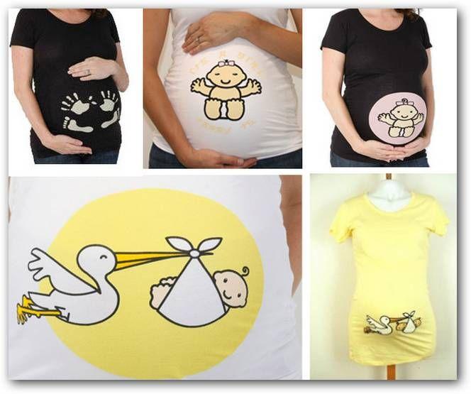Fotos o Imágenes | Remeras para embarazadas con cigüueñas