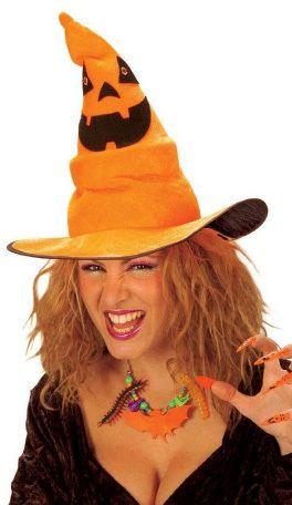 Sombrero tela adulto Bruja Musical naranja
