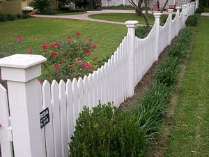 Front yard fence; just big enough to keep dogs out and kids in.