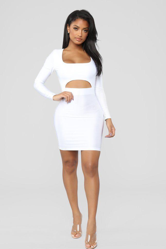 74b521d03ac GNO Again Cutout Mini Dress - White in 2019 | Fashion Nova | Dresses ...