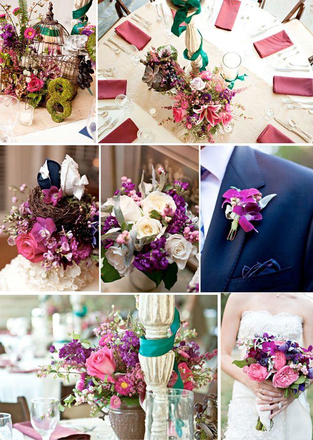 purple-pink-fall-wedding-palate decoración boda