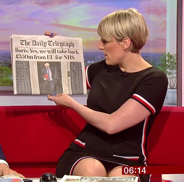 Steph McGovern seemed to suffer a wardrobe malfunction as she was running through the papers