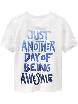 """""""Being Awesome"""" Tees for Baby   Old Navy"""