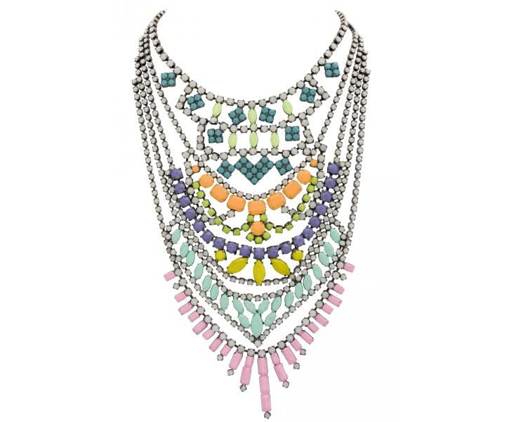 Love the colors and layers.  Tom Binns PASTELLE NECKLACE.