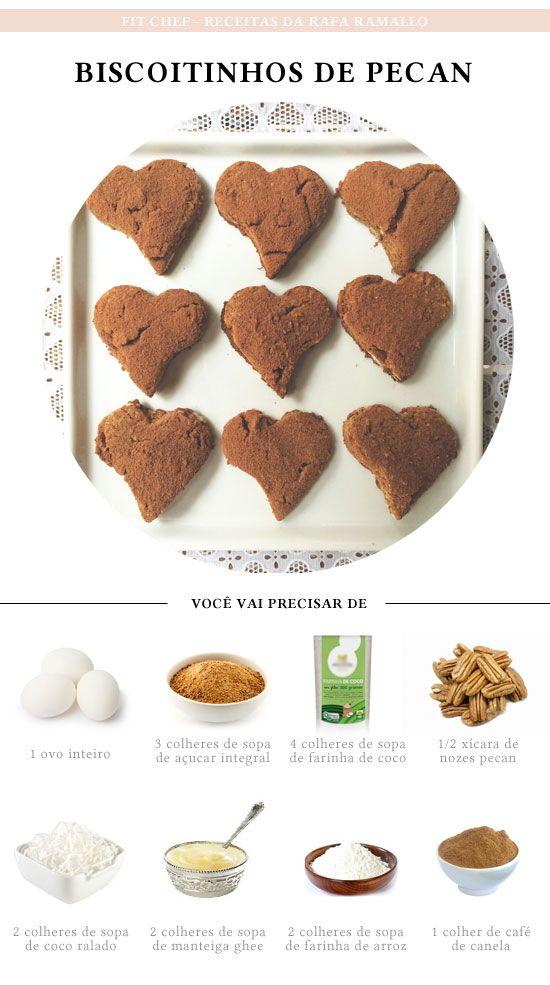 Fit Chef: Biscoitinhos de pecan | CAROL BUFFARA