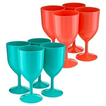 Plastic Wine Glass 4 Pack