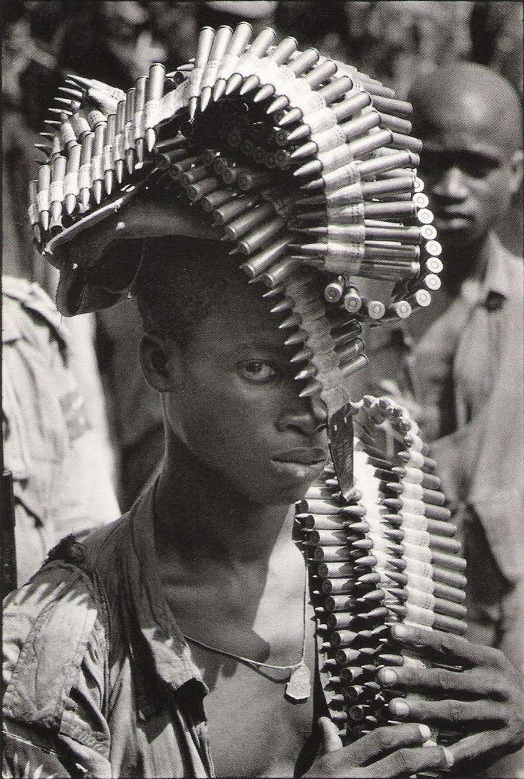 Igbo Soldier during the Nigerian Civil War, November, 1968     Photographer: Gilles Caron