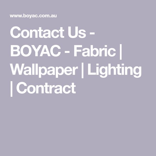 Contact Us - BOYAC - Fabric | Wallpaper | Lighting | Contract