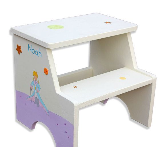 Personalized Two Step Stool for Kids  by SharonGoldstein4kids