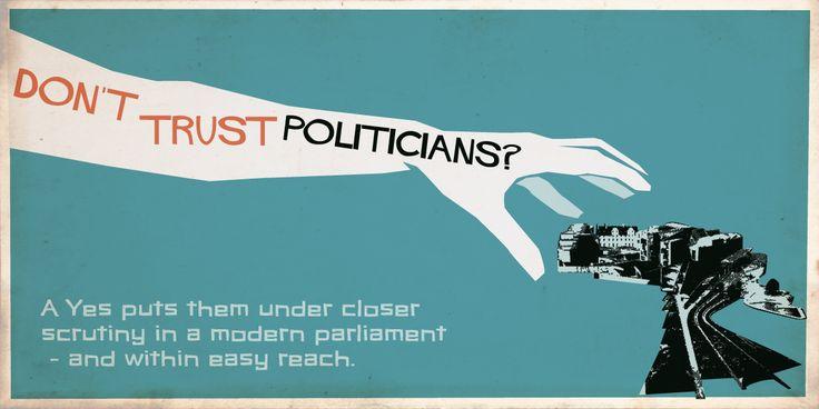Don't trust politicians?