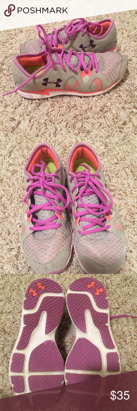 Under Armour Tennis Shoes Worn but in good condition! No trades. Under Armour Shoes Sneakers