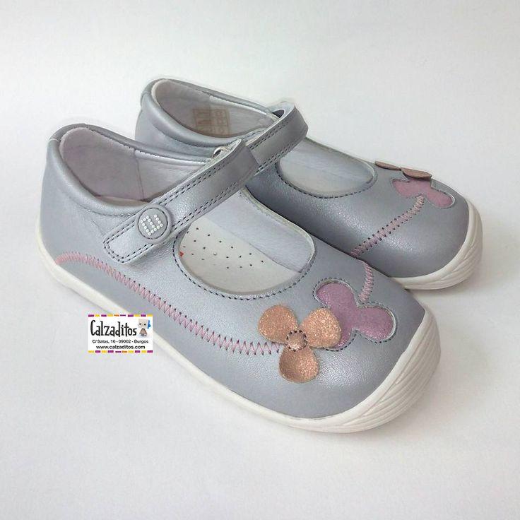 Zapatos rosas con velcro de punta redonda formales infantiles rWxetD5