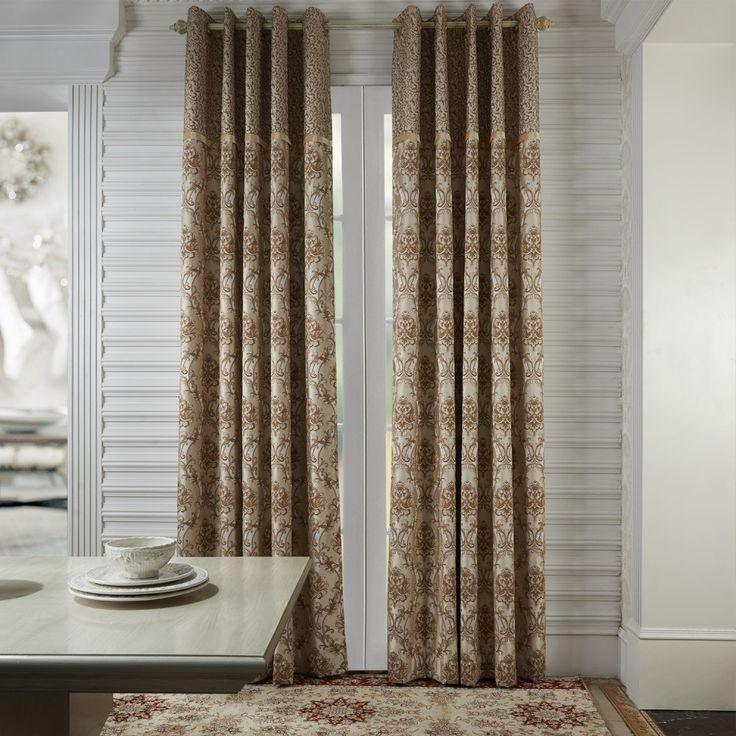 Rococo Beige Jacquard Energy Saving Curtain   #curtains #decor #homedecor #homeinterior #beige