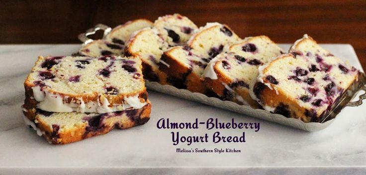 Melissa's Southern Style Kitchen: Almond-Blueberry Yogurt Bread