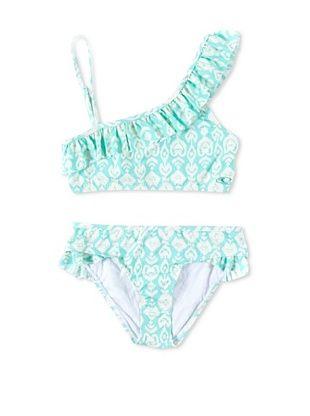 50% OFF O'Neill Girl's 7-16 Delilah Ruffle Swimsuit (Light Aqua)