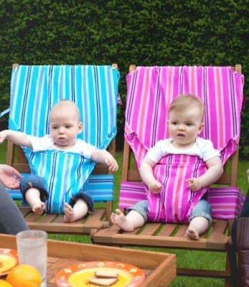Bebek koltukları açık havada serbest dikiş dersi