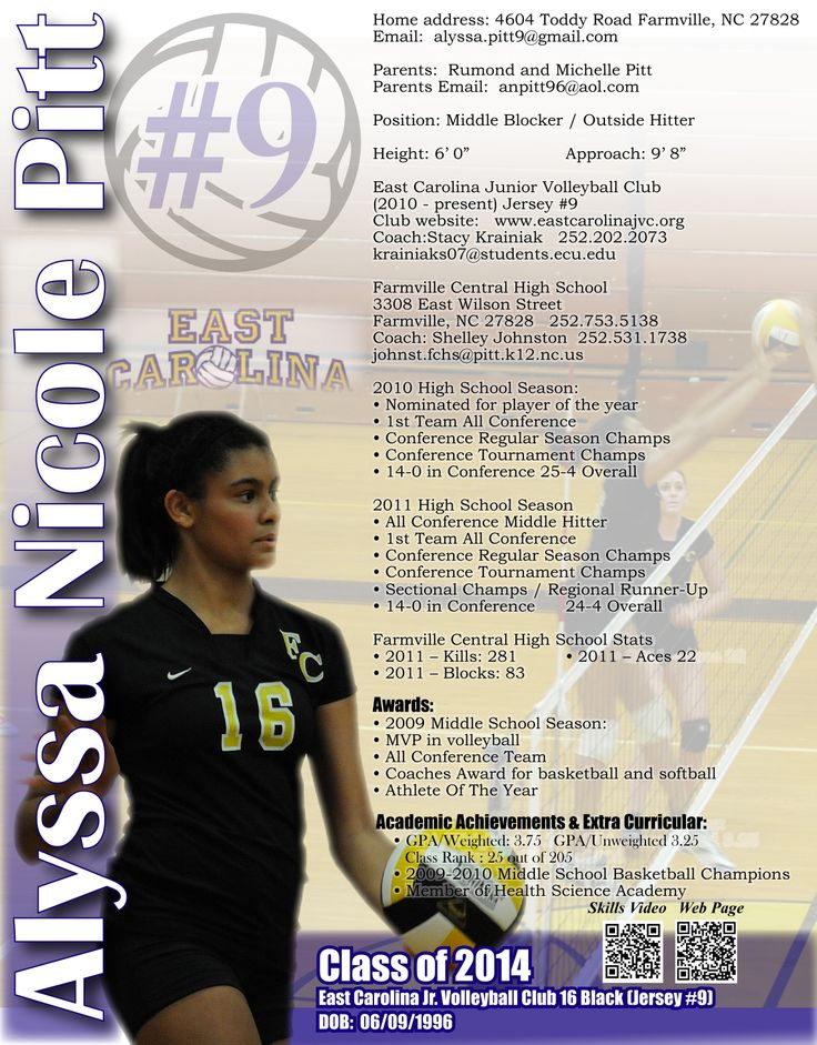 103 best Sports Resumes\/Recruiting Flyers images on Pinterest - soccer resume for college