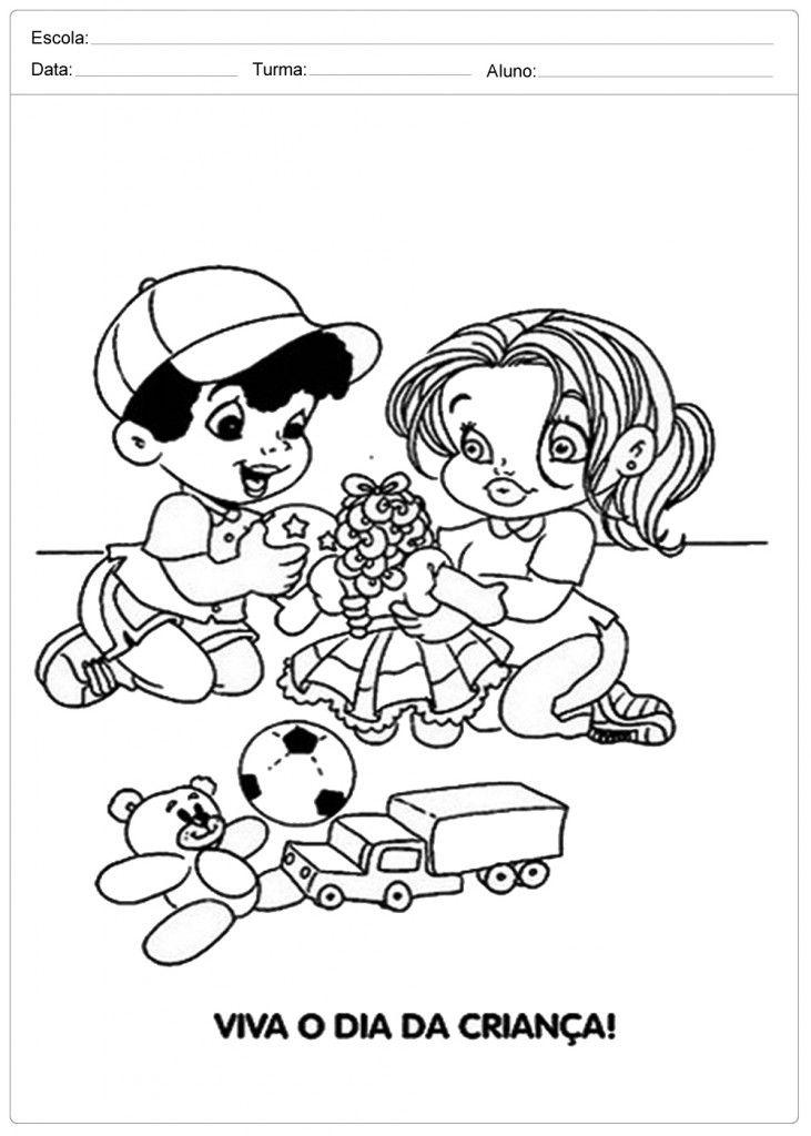Desenhos Para Colorir Dia Das Criancas Atividades Criancas