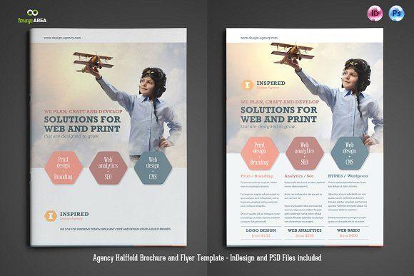 Agency Brochure & Flyer by Imagearea on @creativemarket