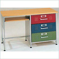 Best Elite Products 3 Drawer Metal Kids Locker Desk 38 6704 400 x 300