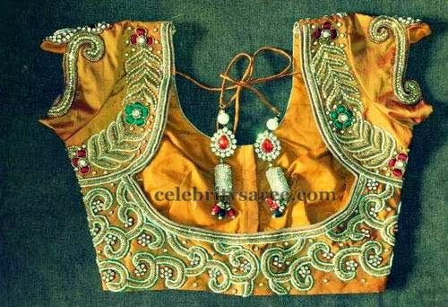 Embroidered Blouse Designs 2014