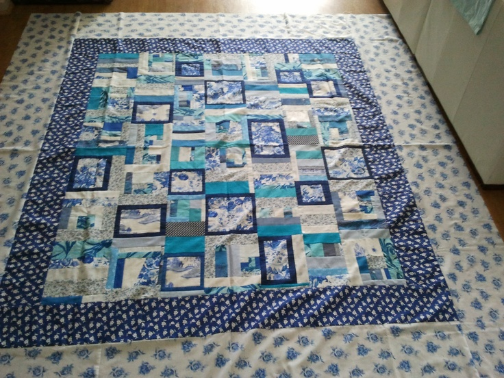 Sarah Jean 2013 - inspired by my Grandmother, she loved blue and white things. I'm keeping this one, it's for the bed.