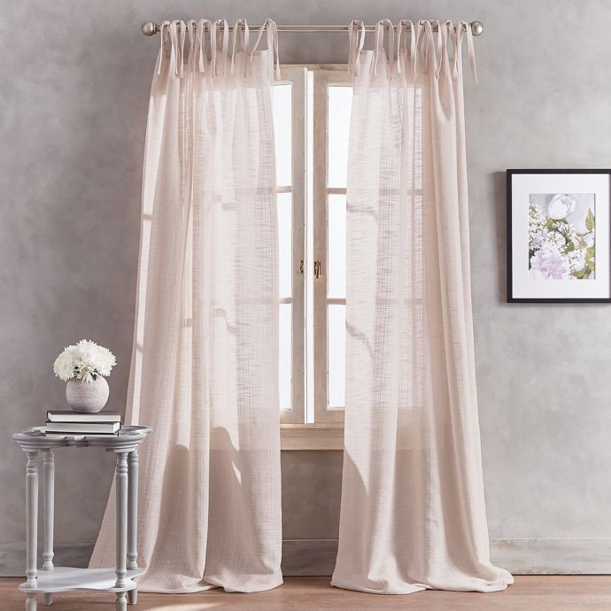 Peri Home Kelly Tab Top Window Curtain Panel Bed Bath Beyond