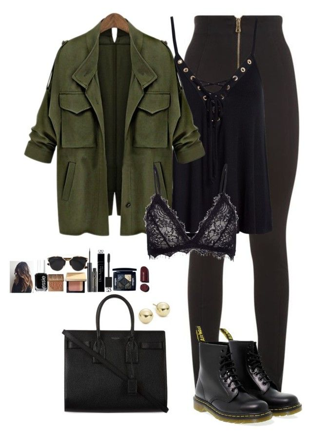 """""""Untitled #462"""" by mariapangal on Polyvore featuring Balmain, Sans Souci, Anine Bing, Yves Saint Laurent, Dr. Martens, Lord & Taylor, Christian Dior, Elizabeth Arden, Bobbi Brown Cosmetics and tarte"""